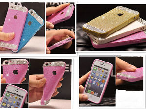 For iphone 6 4s 5s shining bling crystal diamond glitter soft back case cover