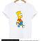 Bart simpson with slingshot tshirt