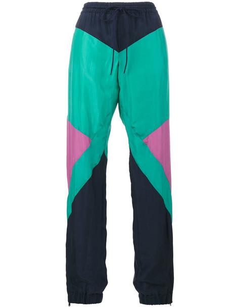 Chloé Chloé - geometric shell trousers - women - Silk/Cotton - 40, Silk/Cotton
