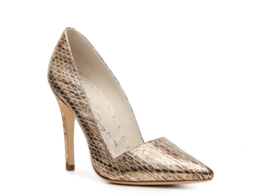 Alice   Olivia Dina Metallic Pump