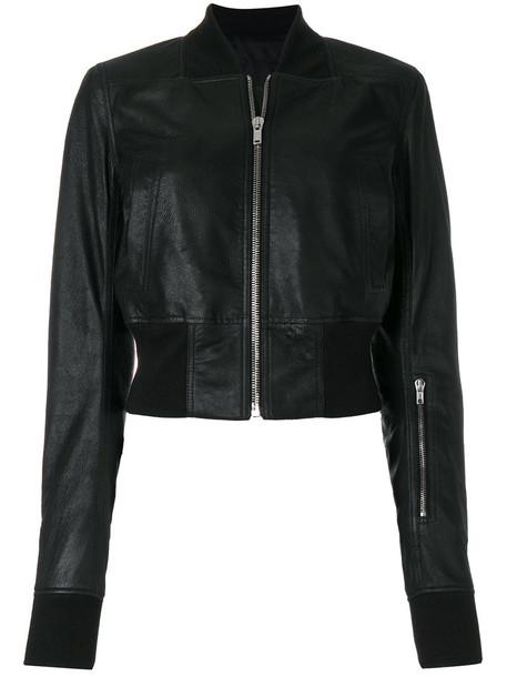 Rick Owens jacket bomber jacket zip women cotton black silk wool