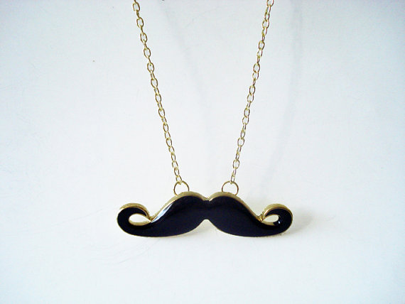 Moustache necklace by floadesign on etsy