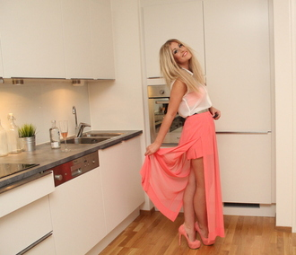skirt maxi maxi skirt dress pink open leg mango pink maxi skirt