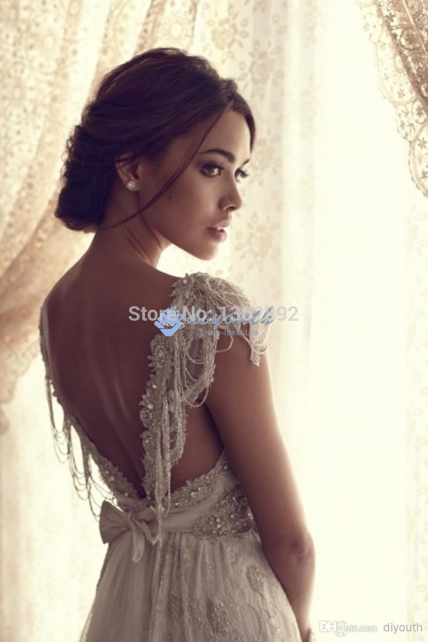 Aliexpress.com : buy 2015 new arrival beading sweetheart cap sleeves wedding dress lace long wedding gown 2014 summer maternity bridal dress from reliable dress barn dress suppliers on tideclothes