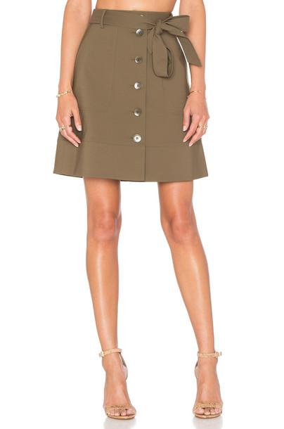 Tibi skirt green
