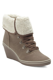 wedge heel,lace up,warmth,shoes