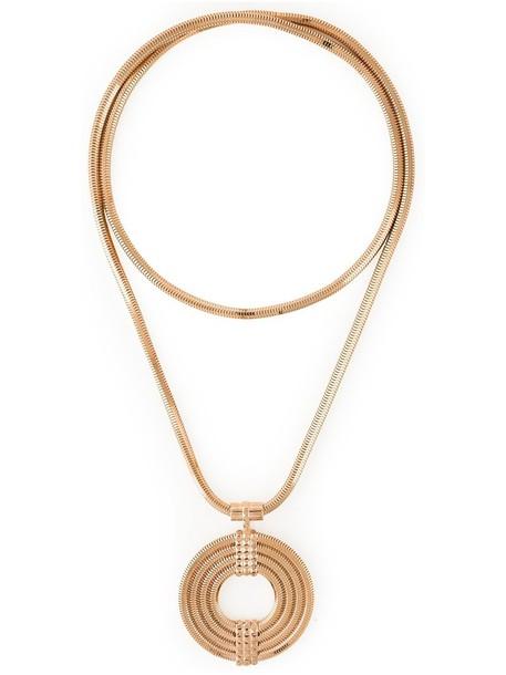 Lara Bohinc long necklace long metal women necklace grey metallic jewels