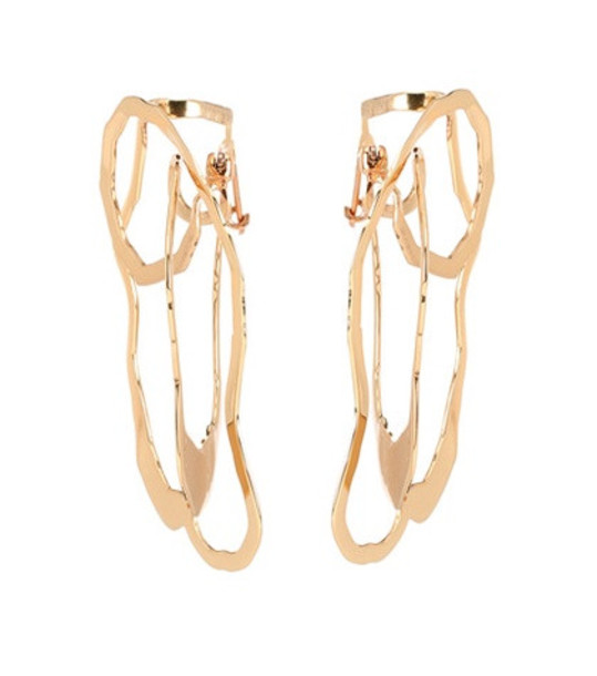 Ellery Erno Oyster earrings in gold