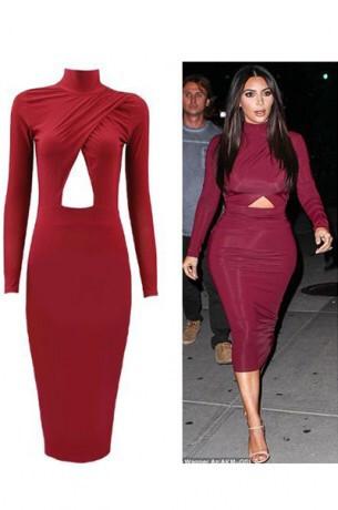 Alayia body wrap dress