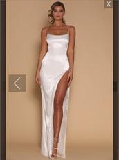 dress,nude dress,nude,formal dress,formal,wedding dress,wedding clothes,silk,satin,maxi dress