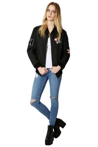 jacket bomber jacket grunge urban black