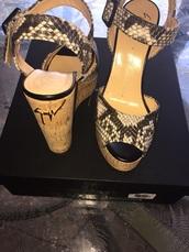 shoes,giusspei zanotti python design wedges 36.5,leather,giuseppe zanotti,python,shoes black wedges,snake print,leather shoes,ebay.com