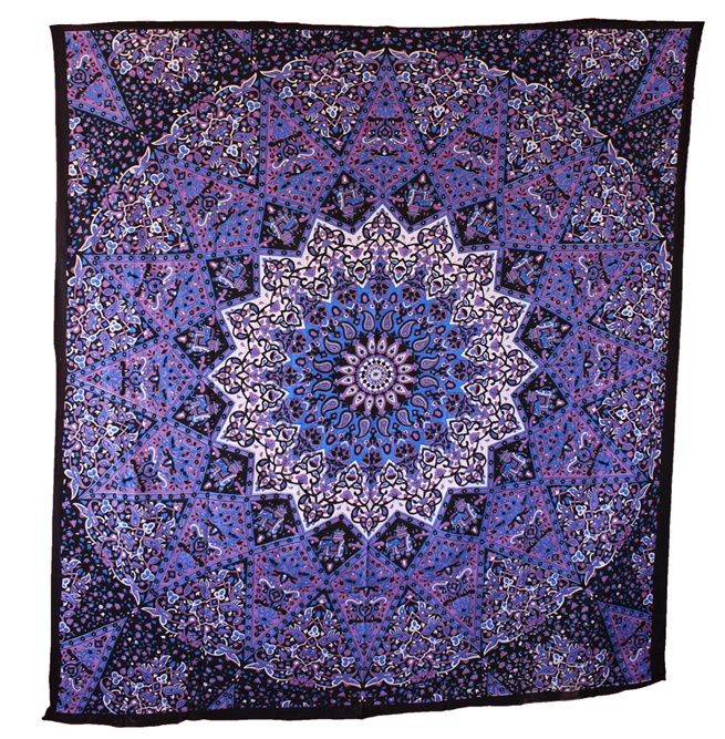 Indian Star Mandala Wall Hanging Tapestry Home Decor