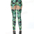Women Green Weed Maple Leaf Hollow Garter Buckle Clip Print Leggings | eBay