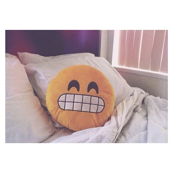 bag creative pillows designs emoji print t-shirt pillow home accessory smile yellow