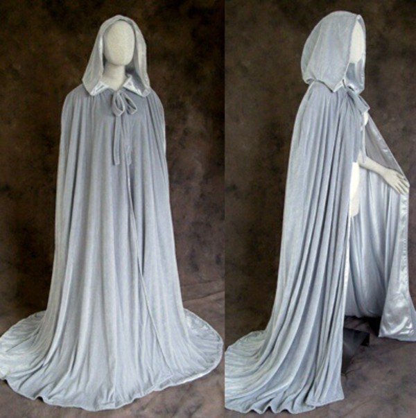 cardigan grey renaissance medieval cloak