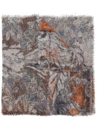 women scarf wool grey