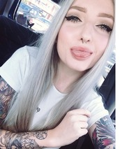 top,casual,white,kimberry,print,tattoo,piercing,cute,embroidered