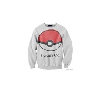 sweater pokemon ash pikachu crewneck