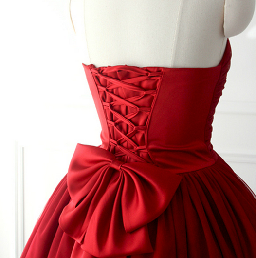 Red sweetheart ball gown