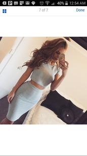 skirt,grey,2piece skirt set,2piece set,2piece outfit,bodycon,two piece dress set,set,skirt set,bodycon skirt,greyskirt,dress,grey dress,urgent,comfy,fashion,style,summer,trendsgal.com