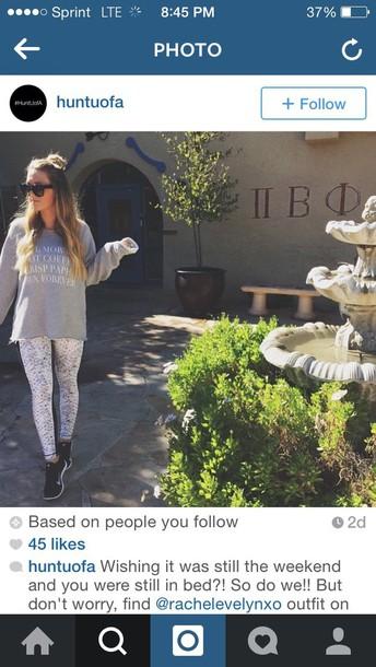 top instagram tights leggings sweatshirt activewear