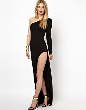 Aq aq yoko maxi dress with thigh split at asos