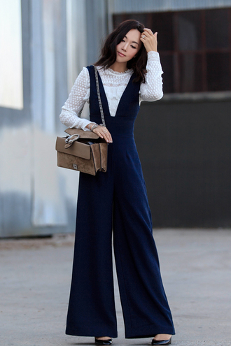 fit fab fun mom blogger blouse jumpsuit shoes bag sunglasses jewels