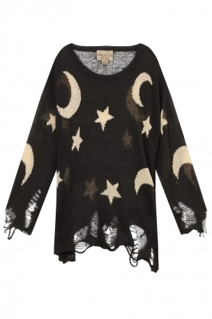 WILDFOX - Black Night Owl Lenon Sweater | Boutique1.com