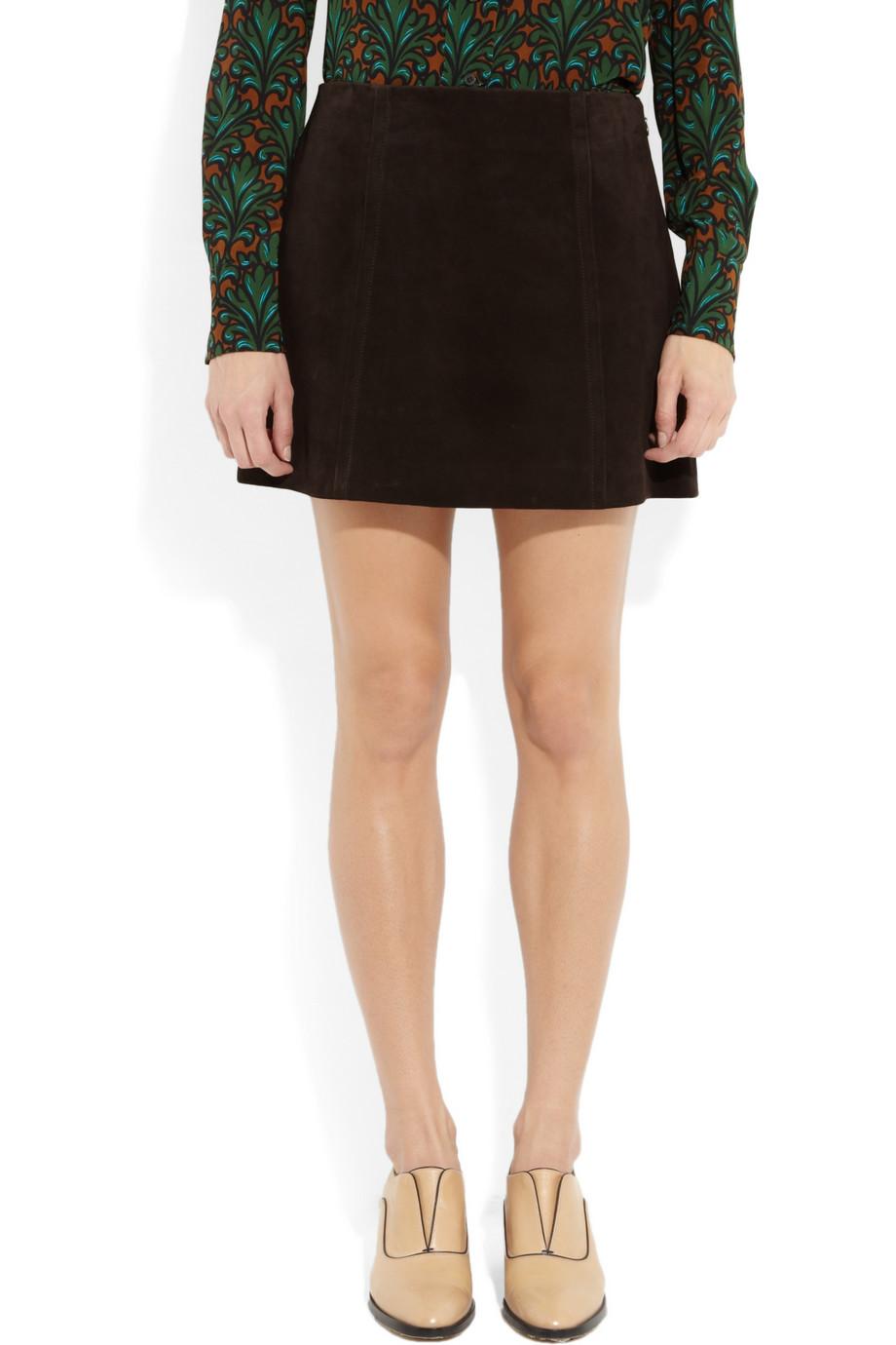 Miu miu suede mini skirt – 64% at the outnet.com