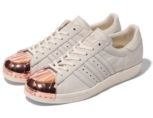 Adidas Originals Superstar 80s Metal Toe Rose Gold Trainers UK Sizes 9.5 10 10.5