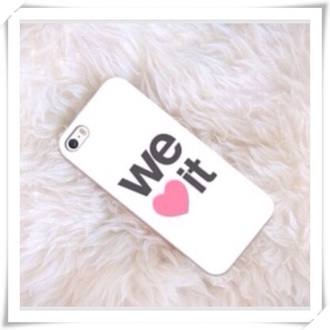 phone cover weheartit heart cool iphone 5s iphone white pink written hipster girly lovely cute iphone 5 case