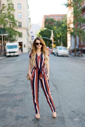 kiss me darling blogger jumpsuit shoes jewels sunglasses