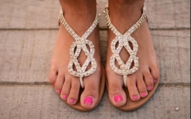shoes flat sandals cute gold