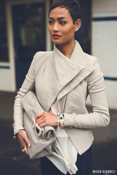 jacket androgynous grey leather jacket zipper jacket coat spring jacket autumn jacket bag fashion jacket gray coat