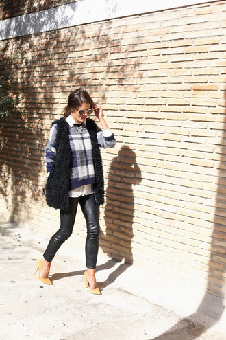 seams for a desire blogger jewels bag cardigan sweater flannel white shirt sunglasses leather pants