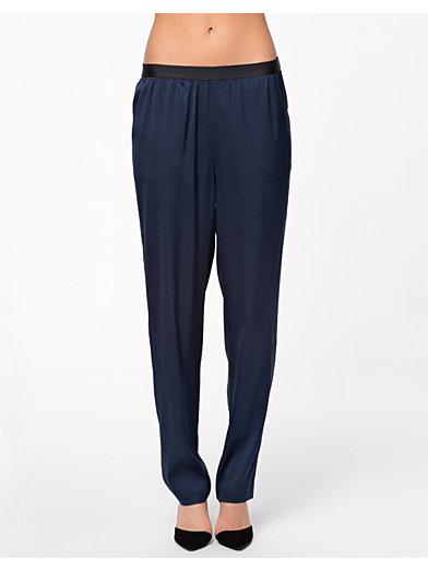 Silk Twill Pants - T By Alexander Wang - Ink - Bukser & Shorts - Tøj - Kvinde - Nelly.com