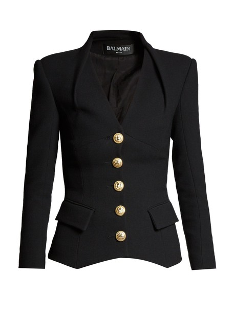 Balmain blazer wool black jacket