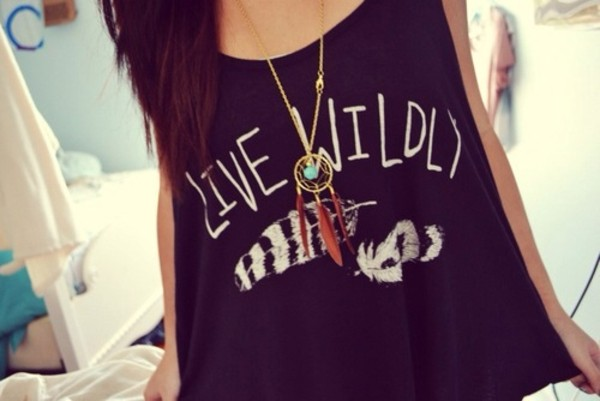 tank top muscle tee wild spirit shirt quote on it teenagers glamour black tank top dress