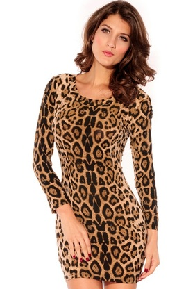 Leopard animal print dress bodycon dress by cali west boutique