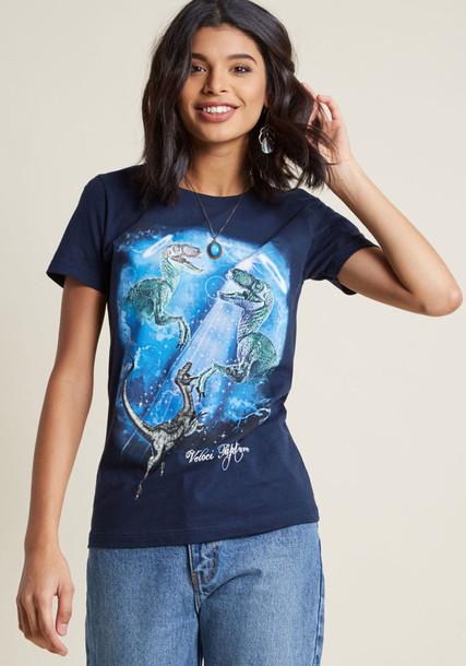 WTEO118-102NVY t-shirt shirt graphic tee t-shirt scene navy blue top
