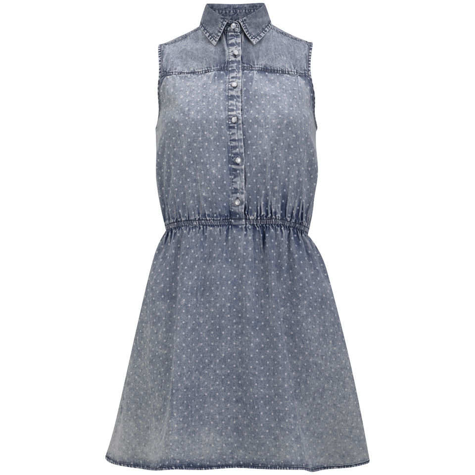 Neon Rose Women's Spot Denim Shirt Dress - Denim Womens Clothing | TheHut.com