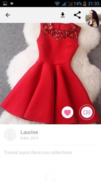 dress red dress jewels