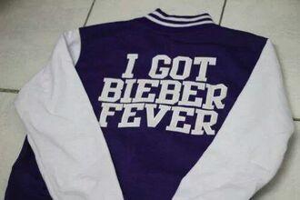 jacket college justin bieber justin bieber belieber purple white