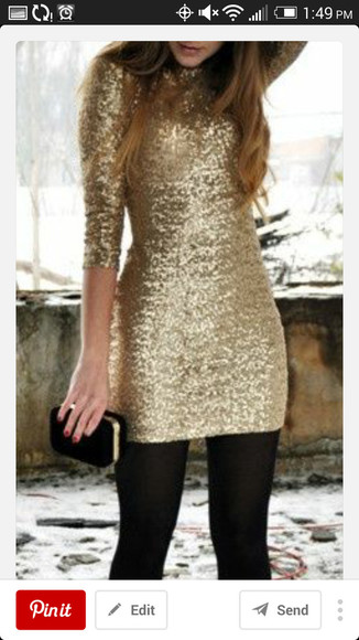 sequins sequin dress cute dress shiny gold sequin dress winter formal dresses