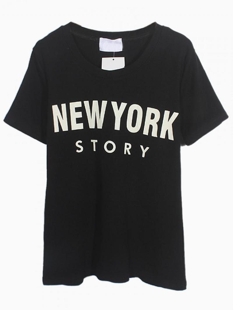 Black New York Story T-shirt