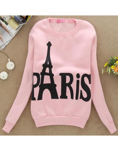 paris pink sweater wow