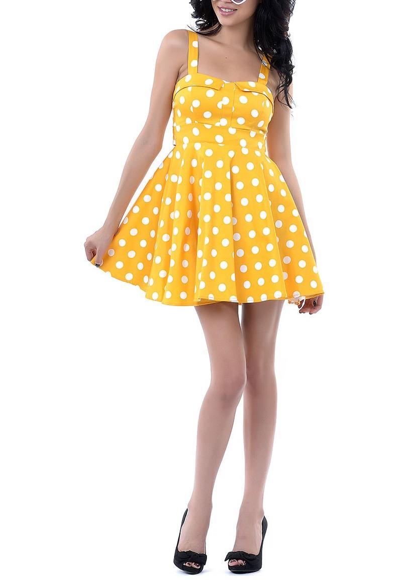 Polka dot straight across neck line romper dress