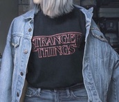 top,black,stranger things,stranger things shirts