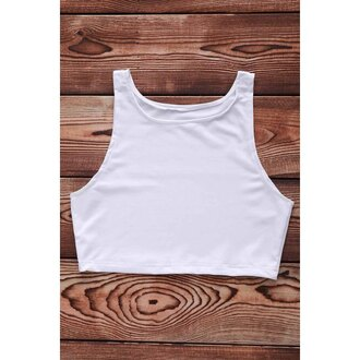 top white summer casual crop tops basic comfy sporty trendsgal